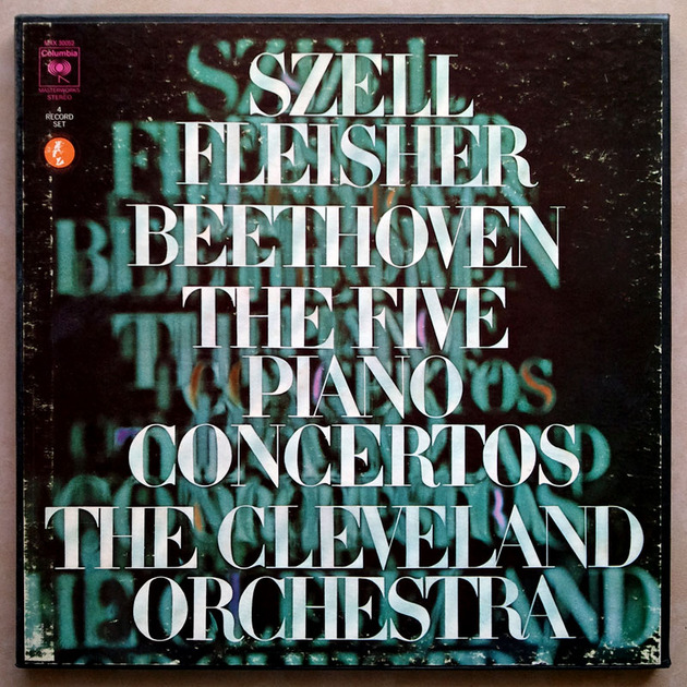 Columbia/Leon Fleisher/Szell/Beethoven - The Five Piano Concertos / 4-LP / / EX
