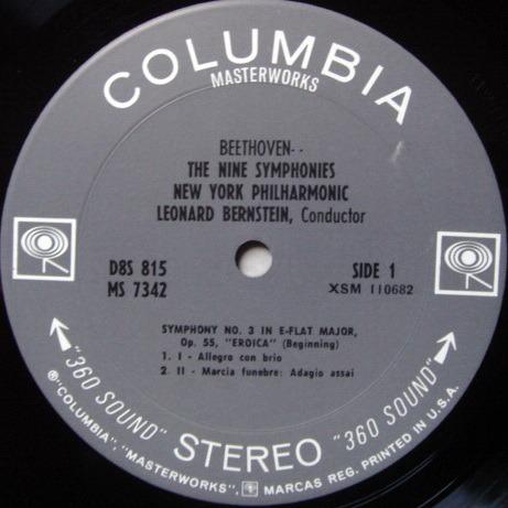 Columbia 2-EYE / BERNSTEIN, - Beethoven The Nine Symphonies, MINT, 8LP Box Set!