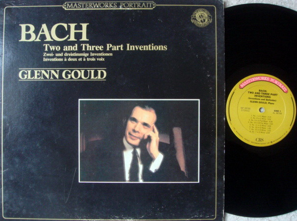 CBS / GLENN GOULD, - Bach Two & Three Part Inventions, NM!