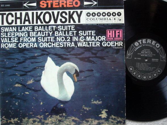 Columbia Harmony / GOEHR, - Tchaikovsky Swan Lake-Sleeping Beauty Suites, EX!