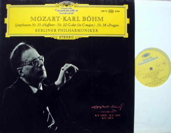 DGG / BOHM-VPO, - Mozart Symphonie No.32,35 & 38, MINT!
