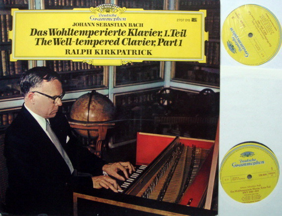 DG / KIRKPATRICK, - Bach Well-Tempered Clavier Part 1, MINT, 2LP Set!