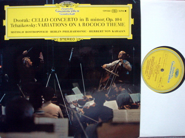 DGG / ROSTROPOVICH-KARAJAN, - Dvorak Cello Concerto, MINT!