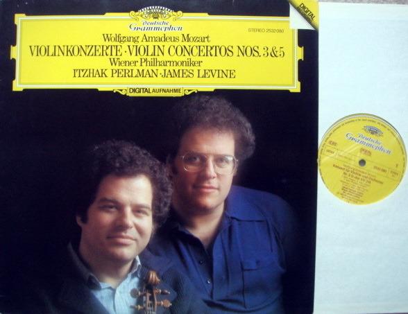 DG Digital / PERLMAN-LEVINE, - Mozart Violin Conerto No.3 & 5, MINT!