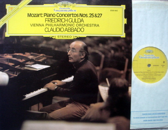 DG / GULDA-ABBADO, - Mozart Piano Concerto No.25 & 27, MINT, UK Press!