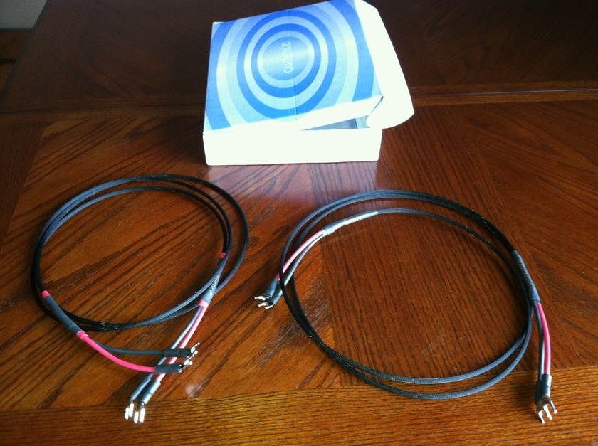 Audience Au24e  2 1/2 Meter Speaker Cables with Spades