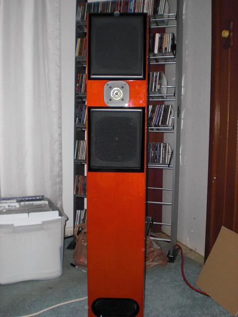 Acoustic Zen Adiago Floor Standing Speakers Red