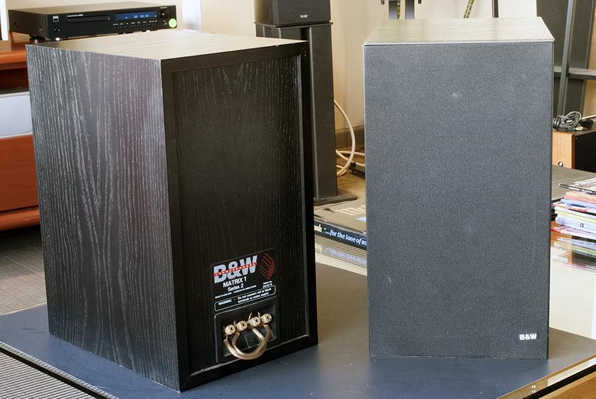 B&W Matrix 1 Series 2 Bookshelf Speakers.