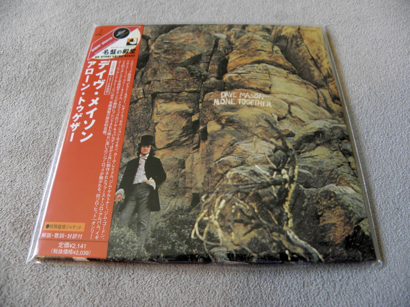 Dave Mason Alone Together - Japan Mini-LP Sleeve CD 1st Pressing