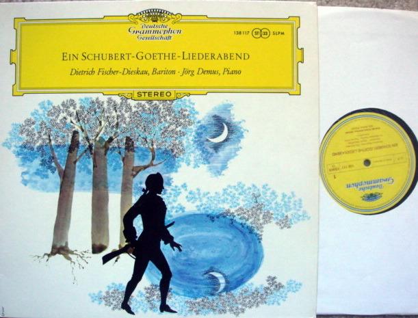 DGG / FISCHER-DIESKAU-DEMUS, - Schubert-Goethe Recital, MINT!