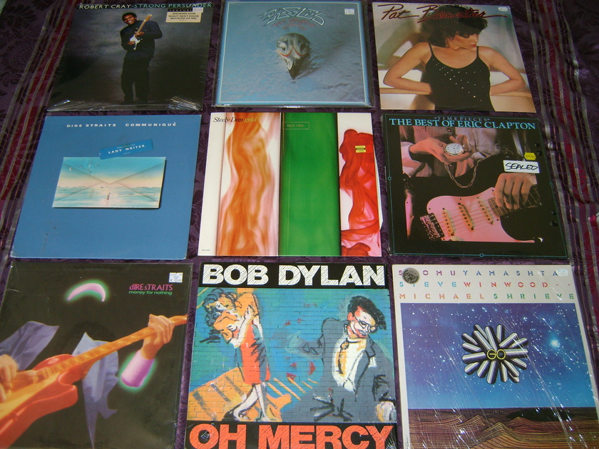 10 Lps Eric Clapton MFSL  - Dire Straits, Bob Dylan Sealed