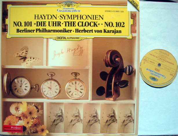 DG Digital / KARAJAN/BPO, - Haydn Symphony No.101 The Clock & No.102,  MINT!