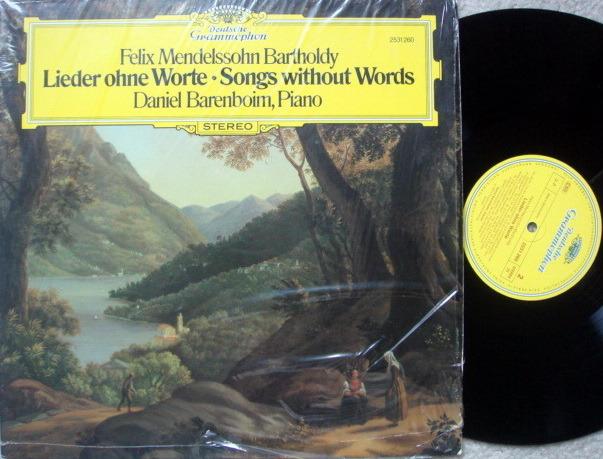 DG / DANIEL BARENBOIM, - Mendelssohn Songs without Words, MINT!