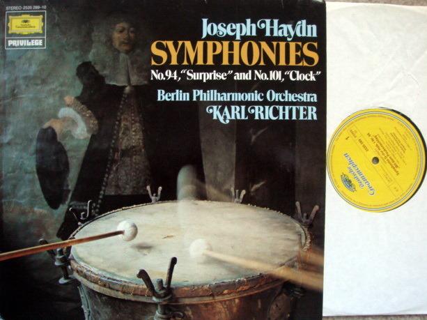 DG / RICHTER-BPO, - Haydn Symphony No.94 Surprise & No.101 Clock,  MINT!