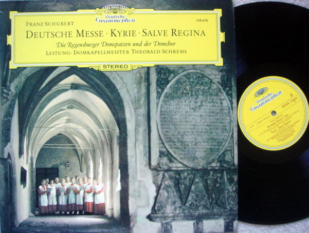 DG / SCHREMS, - Schubert German Mass/Kyrie, Salve Regina, MINT!