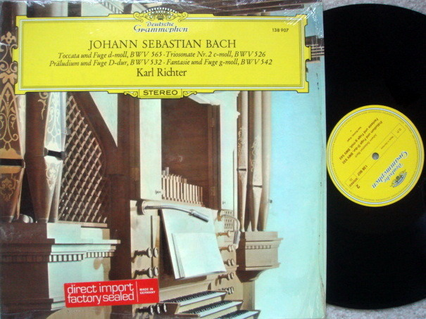 DG / KARL RICHTER, - Bach Toccata and Fugue, MINT!
