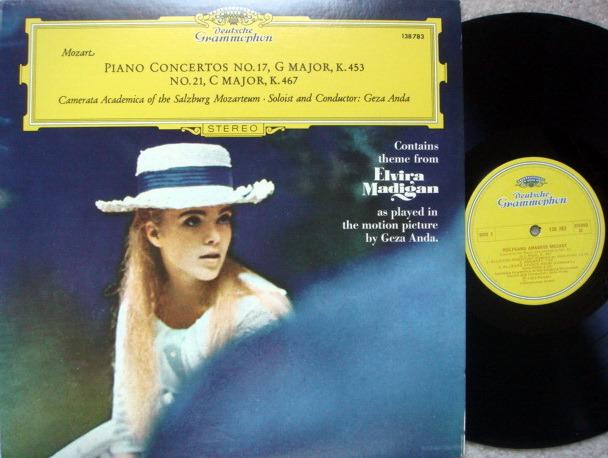 DG / GEZA ANDA-CASM, - Mozart Piano Concerto No.17 & 21, MINT!