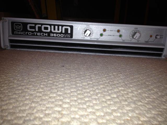 Crown Macro-Tech 3600 VZ Professional Power Amp