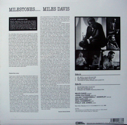★Sealed Audiophile 180g★ 52nd Street Records / - MILES DAVIS, Milestones!