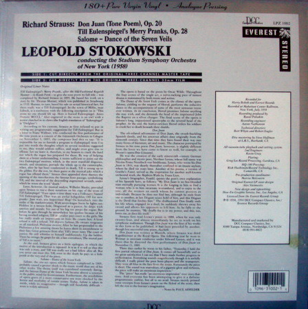 ★Audiophile 180g★ Everest-DCC Records /  - STOKOWSKI, R. Strauss Don Juan, Rare Sealed Out-of-Print!