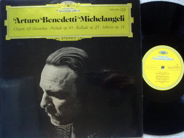 DG / MICHELANGELI, - Chopin 10 Mazurkas, Prelude, Ballade & Scherzo, MINT!