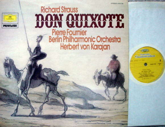DG / FOURNIER-KARAJAN, - R. Strauss Don Quixote, MINT, UK Press!