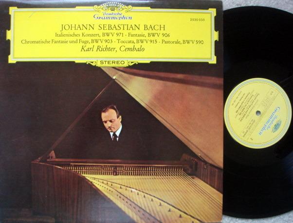 DG / KARL RICHTER, - Bach Works for Harpsichord, MINT!