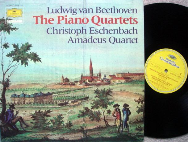 DG / ESCHENBACH-AMADEUS QT, - Beethoven Piano Quartets No.1~3, MINT!