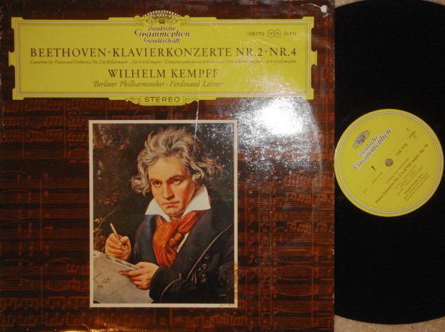 DGG / KEMPFF-LEITNER, - Beethoven Piano Concerto No.2 & 4, NM-!