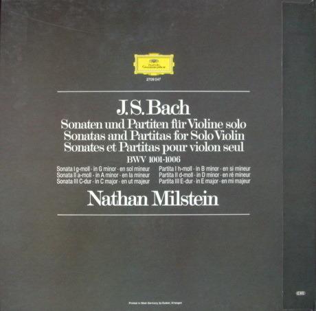 DG / NATHAN MILSTEIN, - Bach 6 Sonatas & Partitas for Solo Violin,  MINT, 3LP Box Set!