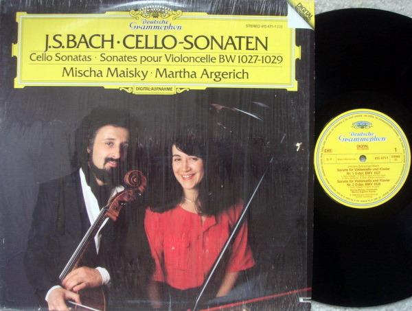 DG Digital / MISCHA MAISKY-ARGERICH, - Bach Cello Sonatas, MINT!