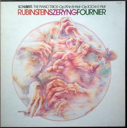 RCA/Rubinstein-Szeryng-Fournier/Schubert  - The Piano Trios Op.99 in B-flat and Op.100 in E-flat / 2-LP Box Set / NM