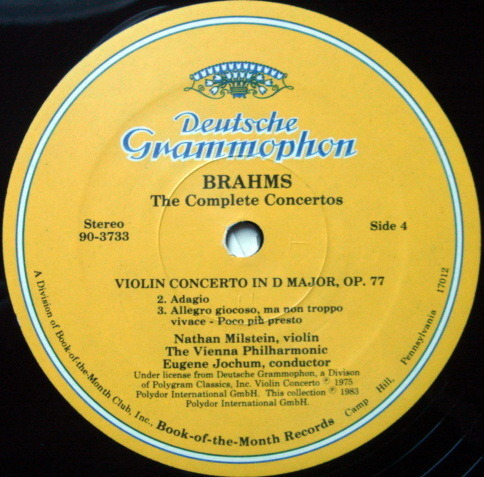 DG / GILRELS-MILSTEIN-SCHNEIDERHAN-STARKER - ,Brahms The Complete Concertos, MINT, 4LP Set!
