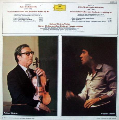 DG / NATHAN MILSTEIN-ABBADO,  - Mendelssohn-Tchaikovsky Violin Concertos, MINT!