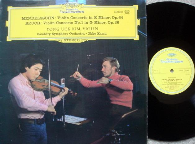 DG / YONG UCK KIM-KAMU, - Bruch-Mendelssohn Violin Concertos, MINT, UK Press!