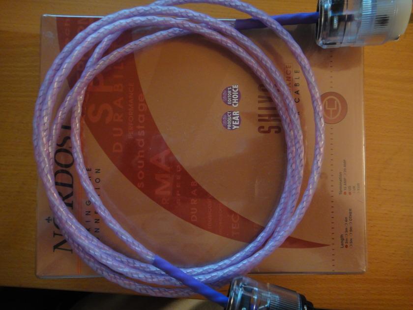 nordost  shiva 2.0 meter 15 amp ac power cord