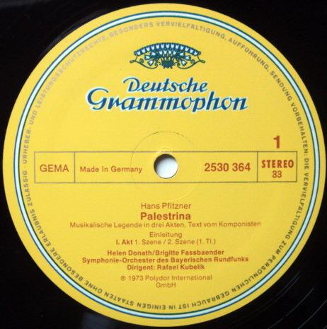 DG / KUBELIK-GEDDA-DIESKAU, - Pfitzner Palestrina, MINT, 4LP Box Set!