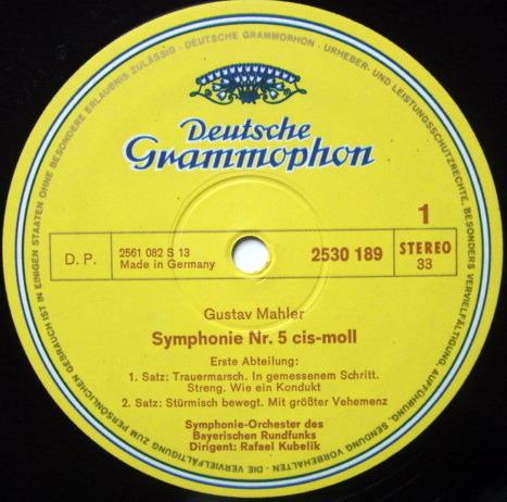 DG / KUBELIK-FISCHER-DIESKAU, - Mahler Symphony No.5, MINT, 2 LP Set!