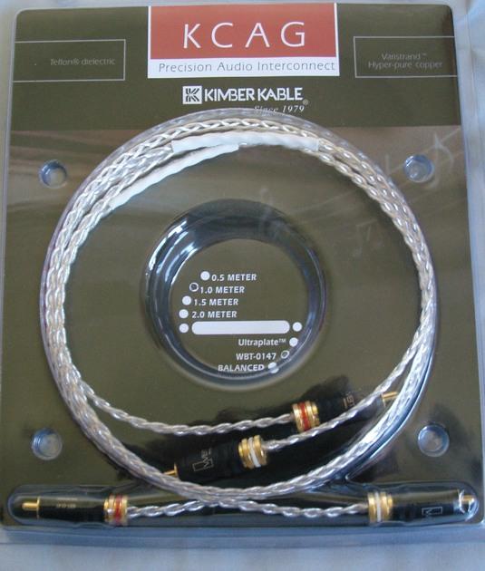 Kimber kable KCAG w/wbt 0147 1m RCA pair