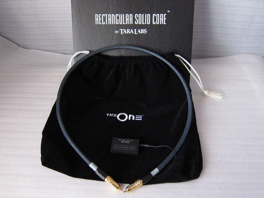 Tara Labs  The One Digital Cable 75 ohm  1 meter RCA