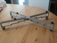 "Stillpoints Component Stand, Four Leg 11"", Silver"
