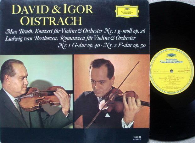DGG / DAVID & IGOR OISTRAKH, - Bruch Violin Concerto,  NM!