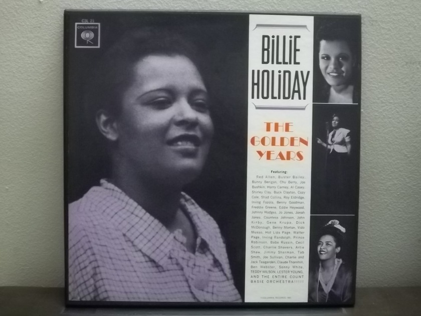 Bille Holiday The Golden Years - Columbia Mono  3lp Box Set