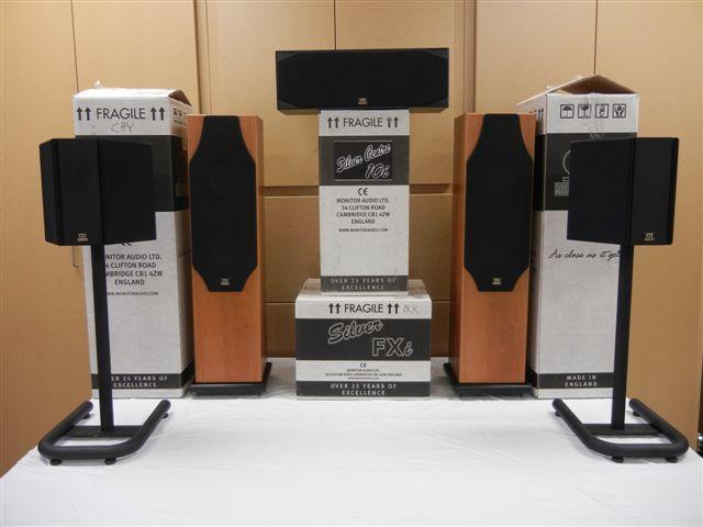 Monitor Audio  Silver Series; R/L, Ctr. & Surrounds 5i R/L, 10i Ctr, FXi Surr.