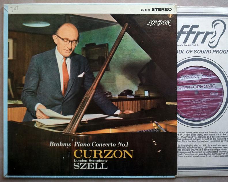 London ffrr/Clifford Curzon/Szell/Brahms - Piano Concerto No.1 / CS 6329 / VG+