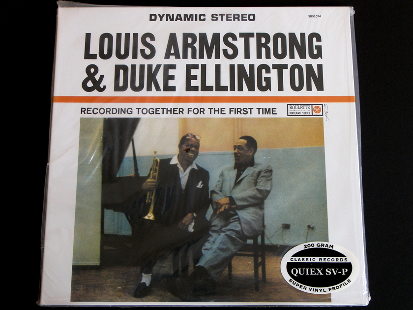 Louis Armstrong & Duke Ellington - Recording Together For The First Time Roulette/Classic Records Quiex SV-P 200g vinyl LP [Sealed]