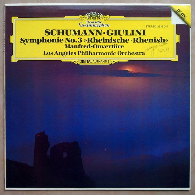 DG Digital/Giulini/Schumann - Symphony No. 3, Manfred Overture / NM