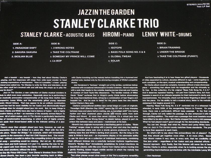 Stanley Clark Trio - Jazz In The Garden 2x180g gatefold vinyl set + MP3 download certificate [Sealed]