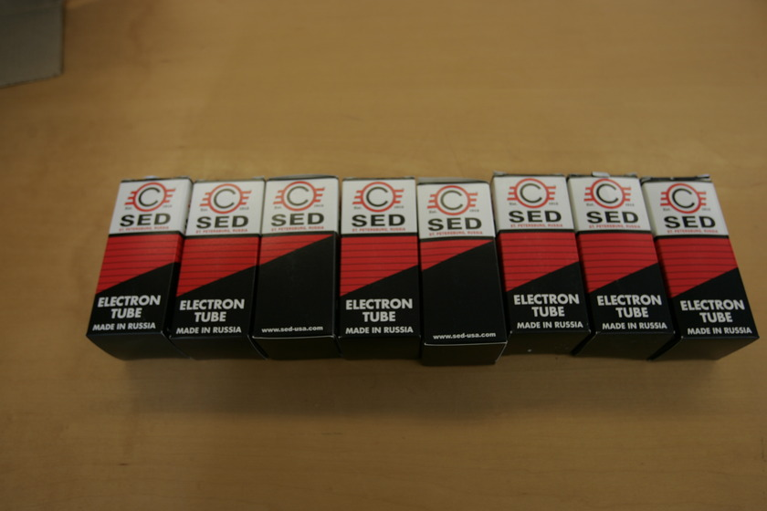 """SED Winged """"C"""" KT88 8 Matched Tubes"""