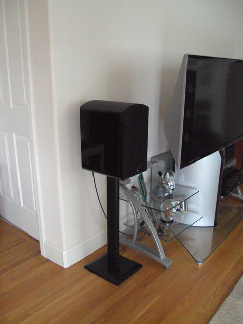 SV SOUND SVS MBS-01  Black Pair with Stands - Like New